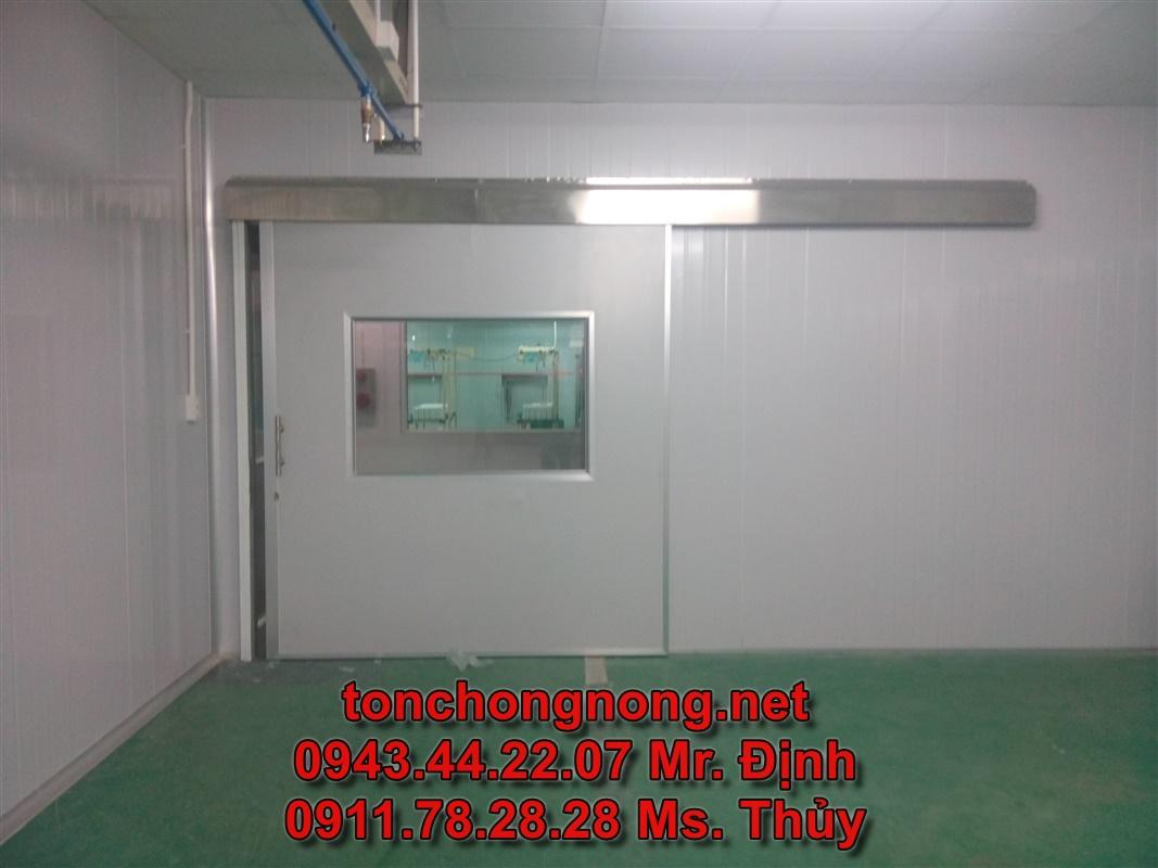 cửa lùa panel eps phòng sạch